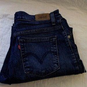 LEVI'S 550 Bootcut Womens Jean, Bluewash 12M